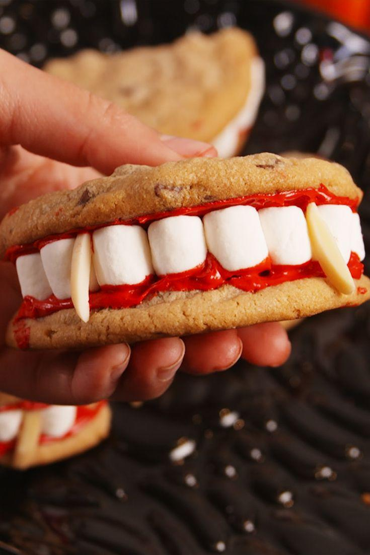 """<p>Look at those marshmallowy whites.</p><p>Get the recipe from <a href=""""https://www.delish.com/cooking/recipe-ideas/recipes/a55668/dracula-dentures-recipe/"""" rel=""""nofollow noopener"""" target=""""_blank"""" data-ylk=""""slk:Delish"""" class=""""link rapid-noclick-resp"""">Delish</a>.</p>"""