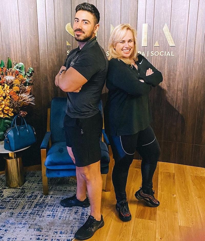Rebel Wilson's trainer Jono Castano has revealed the reason the actress has been so successful in her weight loss journey this year. Photo: Instagram/JonoCastanoAcero