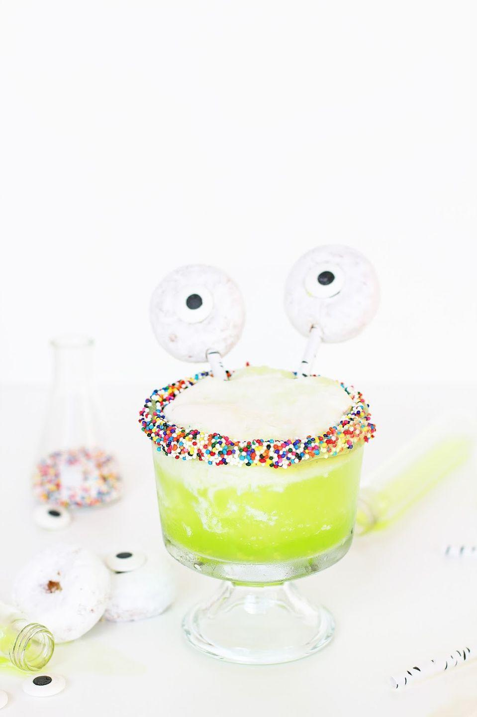 "<p>We're obsessed with the way these edible eyeball stirrers take ""radioactive"" cocktails to a whole new level. </p><p><em><a href=""http://www.awwsam.com/2015/10/witchs-brew-halloween-drink.html?m=1#.V40lcrQSzTR"" rel=""nofollow noopener"" target=""_blank"" data-ylk=""slk:Get the recipe from Aww, Sam »"" class=""link rapid-noclick-resp"">Get the recipe from Aww, Sam »</a></em> </p>"