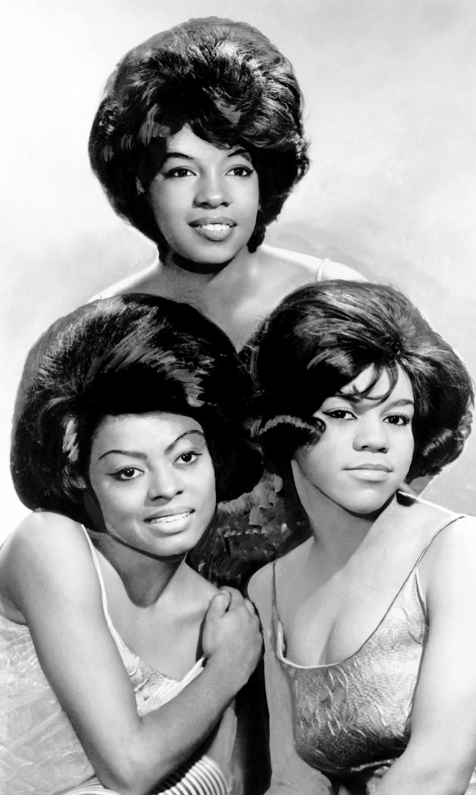 <p>This American female musical group, consisting of Florence Ballard, Mary Wilson, Diana Ross, and Betty McGlown, was the premier Motown act in the '60s. At their peak, The Supremes rivaled The Beatles in popularity and set a precedent for future African American musical acts like Destiny's Child. The group became famous initially because they actually sang live — most other bands were lip-synching at the time. <i>(Source: Everett Collection)</i></p>