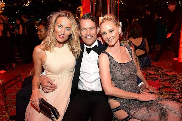 <p>Victoria Smurfit, James Tupper, and Anne Heche attended HBO's Post Emmy Awards Reception at the Plaza at the Pacific Design Center. (Photo: Matt Winkelmeyer/Getty Images) </p>
