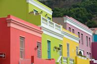 <p>Citrusy shades line this Cape Town block.</p>