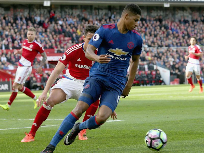 Marcus Rashford has not scored a league goal since September: Getty