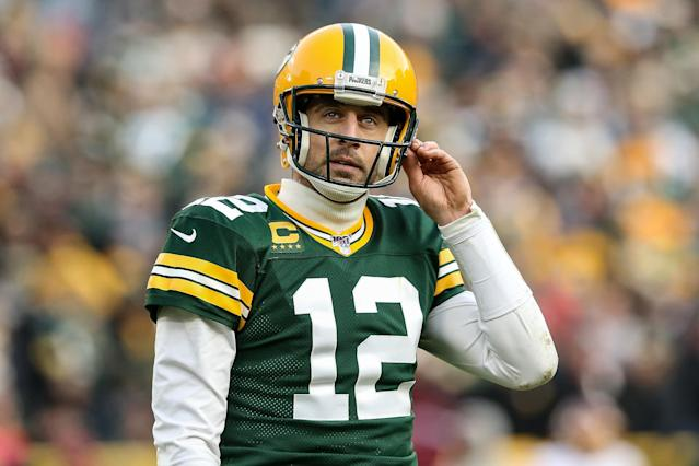 Consider Aaron Rodgers a risk this season. (Photo by Dylan Buell/Getty Images)