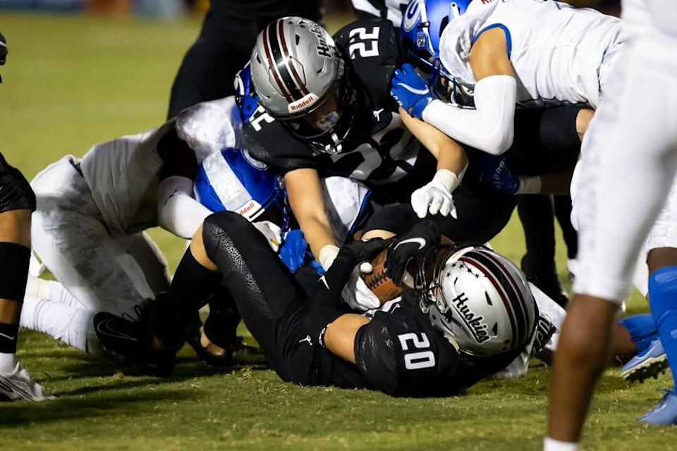 Hamilton Huskies came back for a win over Bishop Gorman of Las Vegas in a nationally televised game Friday, Sept. 17, 2021.