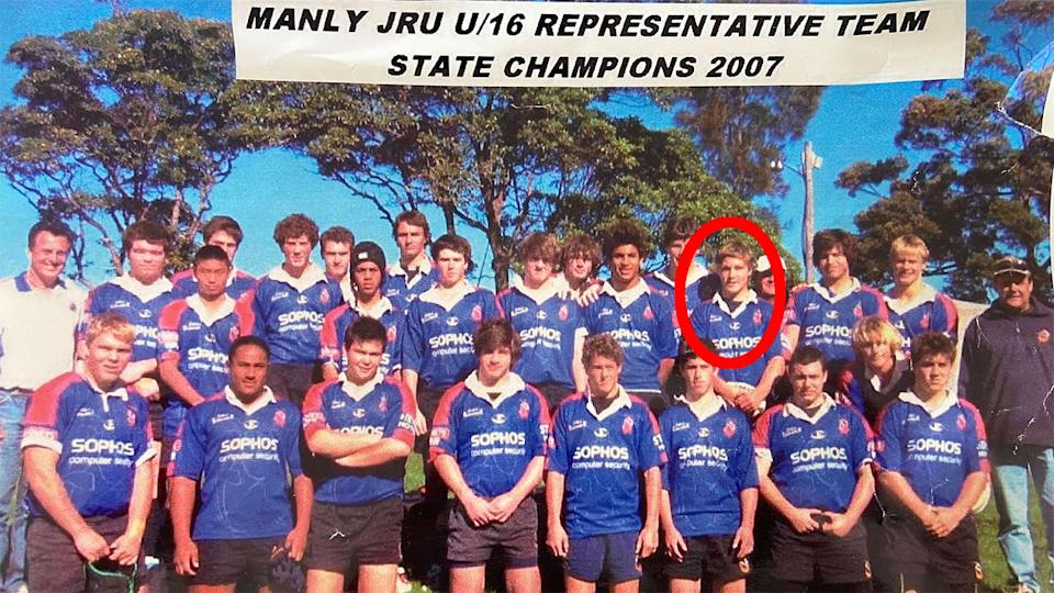 Pictured here, Michael Hooper with his U/16 Manly rep team in 2007.