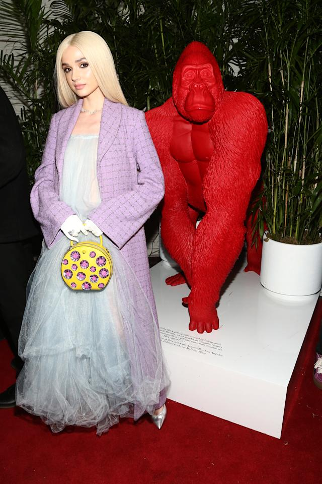 Poppy attends W Magazine Celebrates Its 'Best Performances' Portfolio and the Golden Globes with Audi and Giorgio Armani Beauty at Chateau Marmont on January 4, 2019 in Los Angeles, California.