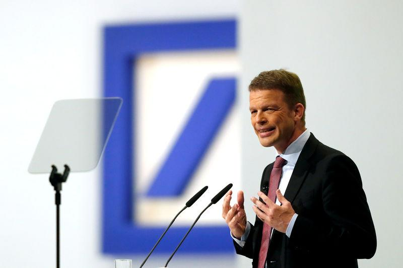 FILE PHOTO: Deutsche Bank's annual meeting in Frankfurt
