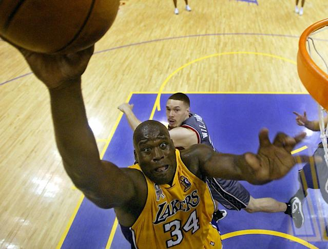 Shaquille O'Neal (Photo credit should read ADREES LATIF/AFP/Getty Images)