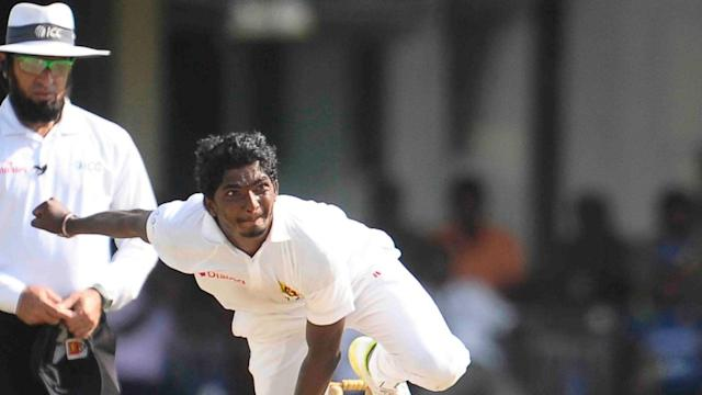 Bangladesh's hopes of levelling the series with Sri Lanka were hit by a late collapse on day two of the second Test.
