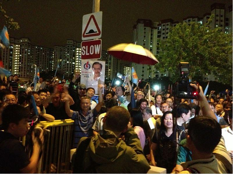 WP supporters chant Lee Li Lian's name even after the rally ends.