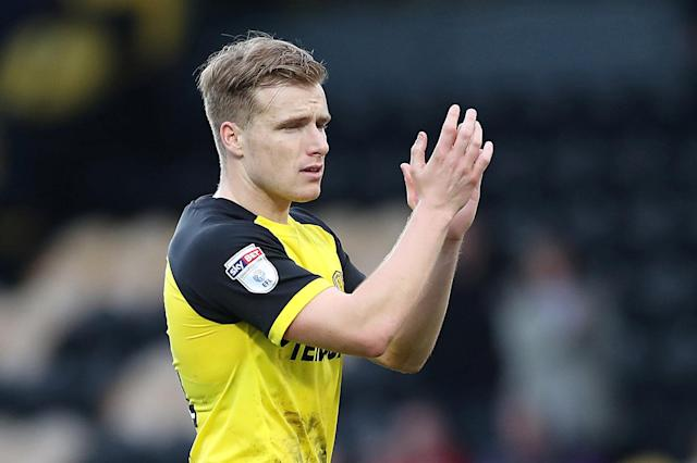 "Soccer Football - Championship - Burton Albion vs Bristol City - Pirelli Stadium, Burton-on-Trent, Britain - March 10, 2018 Burton Albion's Damien McCrory applauds the fans at the end of the game Action Images/John Clifton EDITORIAL USE ONLY. No use with unauthorized audio, video, data, fixture lists, club/league logos or ""live"" services. Online in-match use limited to 75 images, no video emulation. No use in betting, games or single club/league/player publications. Please contact your account representative for further details."