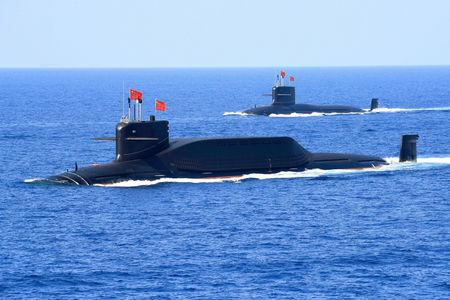 FILE PHOTO: A nuclear-powered Type 094A Jin-class ballistic missile submarine of the Chinese People's Liberation Army (PLA) Navy is seen during a military display in the South China Sea April 12, 2018. REUTERS/Stringer