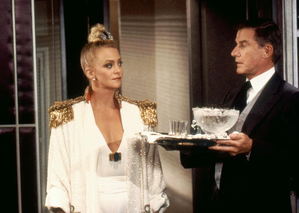 "<a href=""http://movies.yahoo.com/movie/contributor/1800019627"">Goldie Hawn</a>, ""OVERBOARD""  ""Wearing a G-string, a robe and a bun on her head, bitching out the builder over her walk-in closet. Bitch!"""