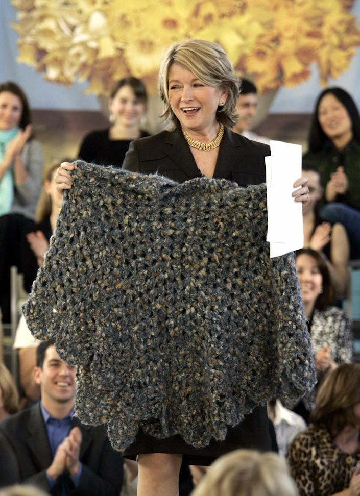 US domestic diva Martha Stewart shows of (Timothy A. Clary / AFP via Getty Images)