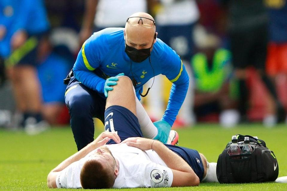 Eric Dier was forced off injured in the first half (REUTERS)