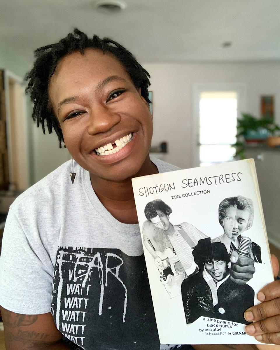 """In 2016, Osa Atoe, started writing """"Shotgun Seamstress,"""" which archivists say is perhaps the most identifiable 21st century punk zine by a Black woman."""