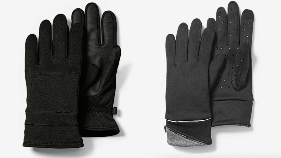 Warm your hands with a lightweight pair of gloves.