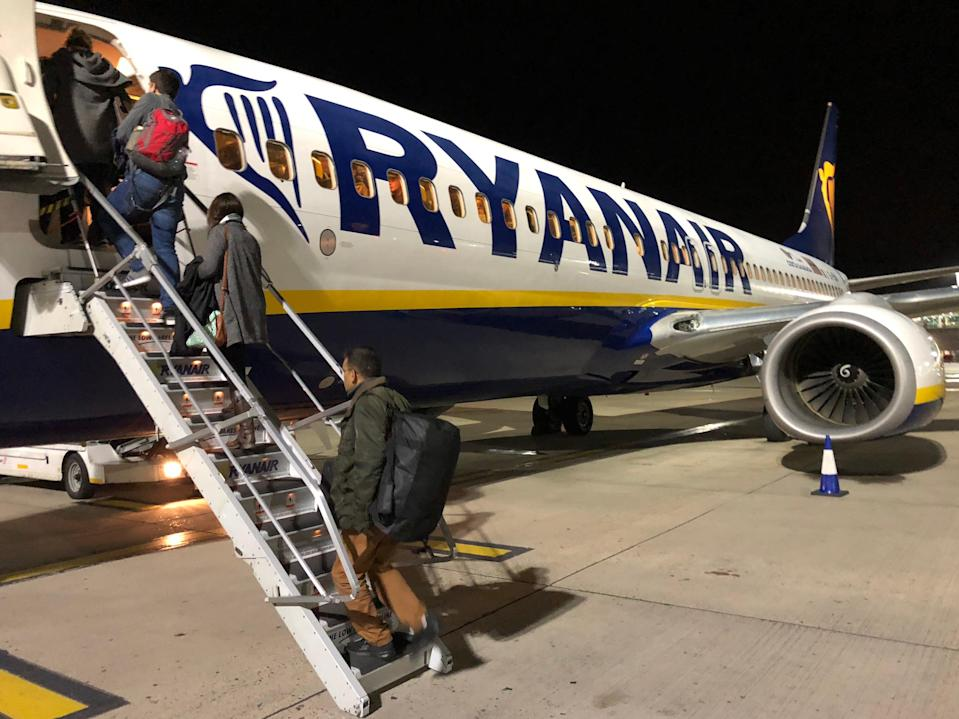 Going places? Ryanair Boeing 737 at its main base, London Stansted airport (Simon Calder)