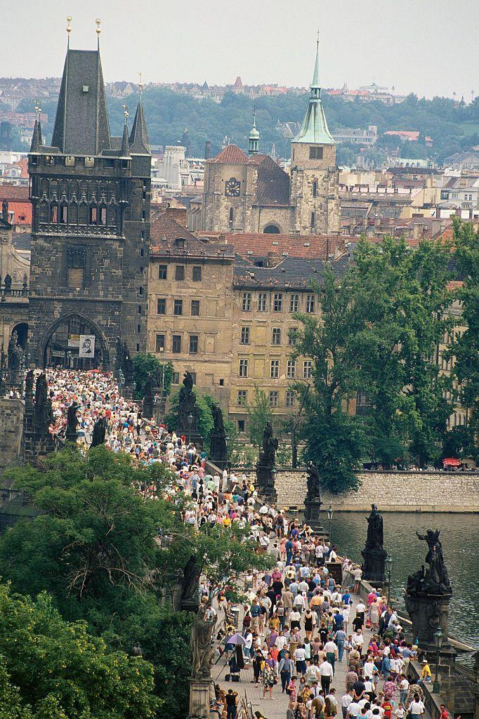 """<p>Tourist looking to take advantage of both countries before the dissolution of Czechoslovakia made bold attempts at visiting <a href=""""https://www.prague.eu/en"""" rel=""""nofollow noopener"""" target=""""_blank"""" data-ylk=""""slk:Prague"""" class=""""link rapid-noclick-resp"""">Prague</a>. Even though sentiments about the dissolution were pretty tame, tourist felt some things would be lost in the transition and elected for a visit before the change. </p>"""