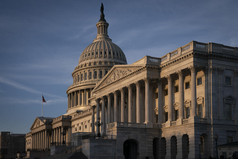 The Capitol is seen in Washington, early Friday, Sept. 27, 2019. Major legislation to reduce prescription drug costs for millions of people may get sidelined now that House Democrats have begun an impeachment probe of President Donald Trump. Proposals had been moving in Congress, but there are more ways for the process to break down than to succeed. Still, nobody is saying they're giving up. (AP Photo/J. Scott Applewhite)