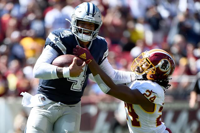Dak Prescott of the Dallas Cowboys (Photo by Will Newton/Getty Images)