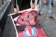 Protest against France in Istanbul