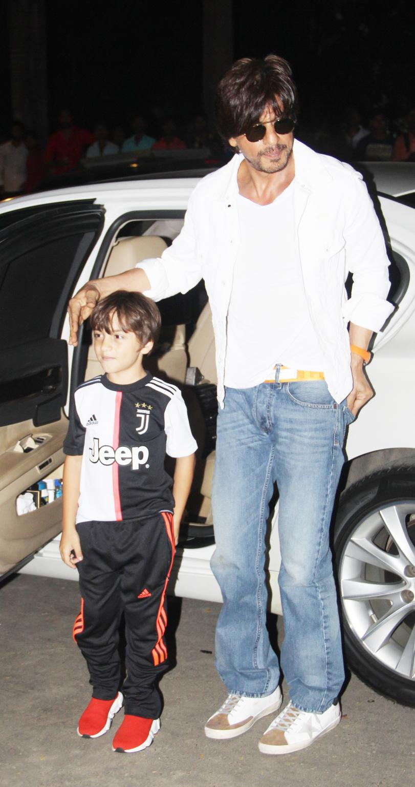 Shah Rukh Khan steps out with AbRam.