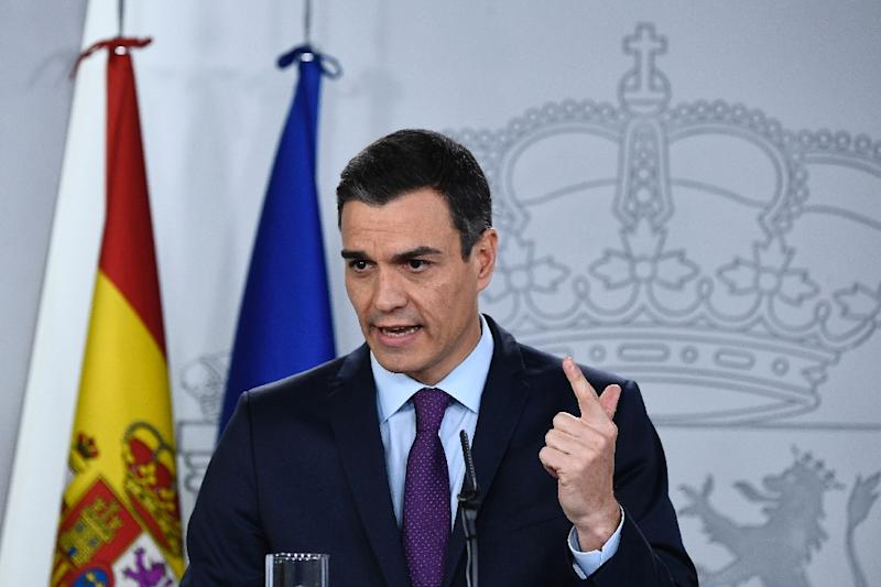 Spain's draft budget contains a rise in investment in Catalonia, whose regional government wants independence but whose lawmakers in the national parliament are crucial for Prime Minister Pedro Sanchez's (pictured December 2018) minority government (AFP Photo/OSCAR DEL POZO)