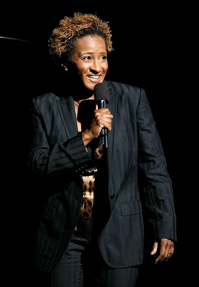 "On April 4, 2009, Wanda Sykes' partner, Alex, gave birth to twins, Olivia and Lucas. The couple, who met in 2006, married in October 2008, a month before Wanda came out at a same-sex rally in Las Vegas. Jemal Countess/<a href=""http://www.wireimage.com"" target=""new"">WireImage.com</a> - June 2, 2008"