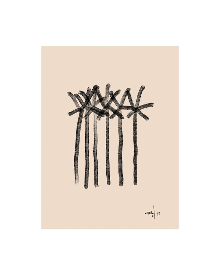 """""""In this series, Delta transforms landscapes into poetry, and then poetry into art . . . looking at her work is like living a dream,"""" Spacey explains in the artist's bio. SHOP NOW: Date Palms in Cairo by Delta Venus, from $95, spaceystudios.com"""