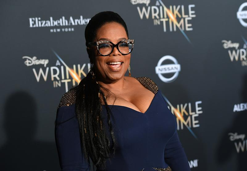 Oprah at the premiere of her new movie,