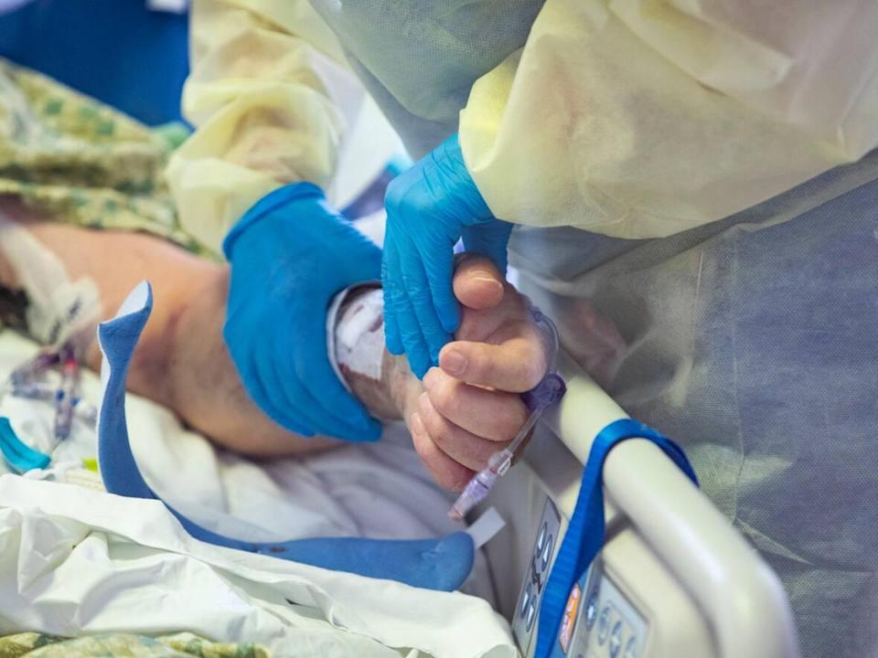 A record-setting 80 COVID-19 patients were under intensive care in Saskatchewan as of Tuesday, the province said.  (Kyle Gree/The Associated Press - image credit)