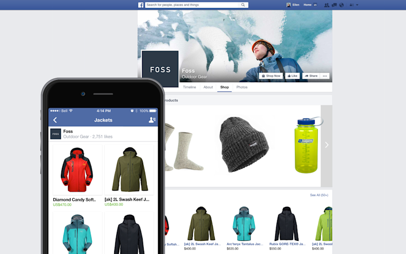 Shopify storefront on a smartphone and desktop.