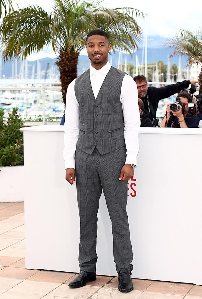 CANNES, FRANCE - MAY 16:  Actor Michael B. Jordan attends the 'Fruitvale Station' Photocall during the 66th Annual Cannes Film Festival at the Palais des Festivals on May 16, 2013 in Cannes, France.  (Photo by Andreas Rentz/Getty Images)