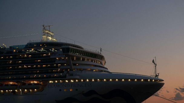 PHOTO: The Diamond Princess cruise ship sits docked at Daikoku Pier in the Japanese port of Yokohama where it remains in quarantine after a number of people on board were diagnosed with the novel coronavirus, Feb. 10, 2020. (Carl Court/Getty Images)