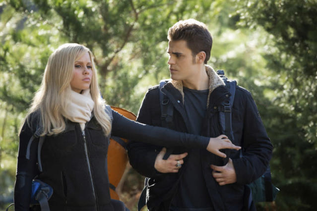 """Down the Rabbit Hole"" -- Claire Holt as Rebekah and Paul Wesley as Stefan"