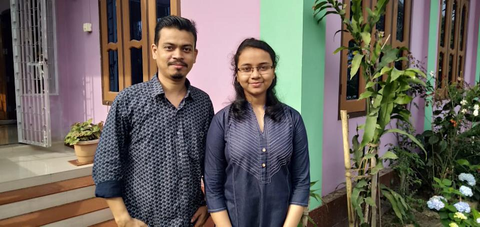 Meghashree Borah, pictured here, topped the Assam HSLC Class 10 results with 594/600 marks.