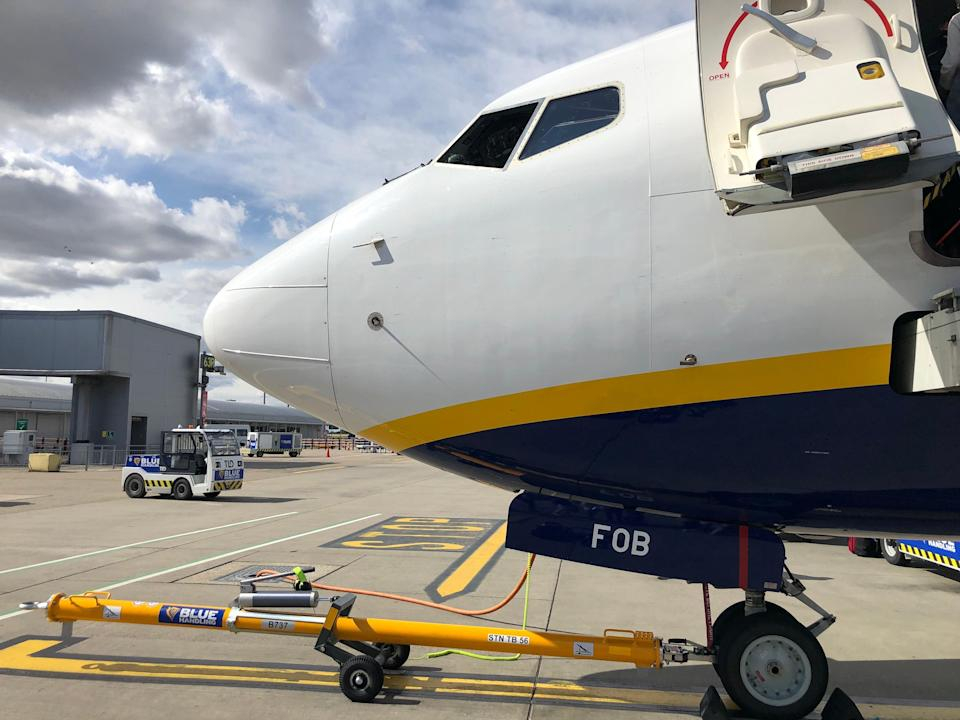 Going places? A Boeing 737 belonging to Ryanair at Stansted airport (Simon Calder)