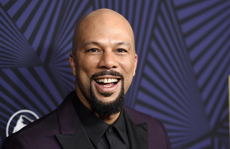 FILE - In this Friday, Feb. 17, 2017, file photo, actor/musician Common poses at the 2017 ABFF Honors: A Celebration of Hollywood, at the Beverly Hilton in Beverly Hills, Calif. Common and Corinne Bailey Rae are set to make their debut at the Playboy Jazz Festival in Los Angeles' Hollywood Bowl June 10-11. (Photo by Chris Pizzello/Invision/AP, File)