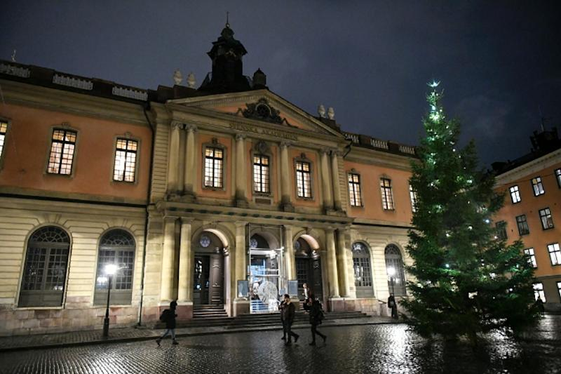 The Swedish Academy, whose headquarters in Stockholm's old city is pictured on November 23, 2017, announced Thursday that several of its members and their relatives have accused a man connected to the institution of sexual assault