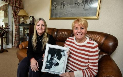 Dawn (L) and Laraine Astle (R), Daughter and Widow of the late Jeff Astle - Credit: Darren O'Brien/Guzelian