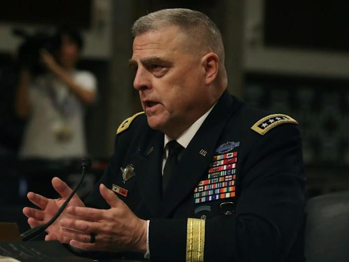 US Army General Mark Milley told the Senate Armed Services Committee that the US is discussing with allies a naval escort operation for oil tankers in the Gulf, in the face of threats from Iran (AFP Photo/MARK WILSON)