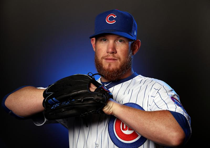MESA, ARIZONA - FEBRUARY 18: Craig Kimbrel #46 of the Chicago Cubs poses during Chicago Cubs Photo Day on February 18, 2020 in Mesa, Arizona. (Photo by Jamie Squire/Getty Images)