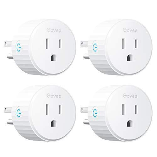 Govee Smart Plug, Mini WiFi Socket Outlet Works with Alexa and Google Assistant, No Hub Require…