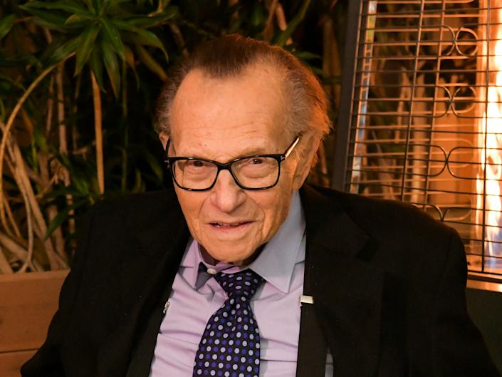 Larry King poses for a portrait in 2019 (Getty Images)