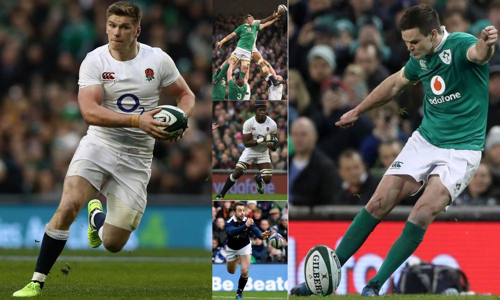 Owen Farrell, left, Jonny Sexton, right, and Maro Itoje, centre, are firmly tipped to be in Warren Gatland's squad to tour New Zealand while Peter O'Mahony, top, and Greig Laidlaw, bottom, also have strong claims.