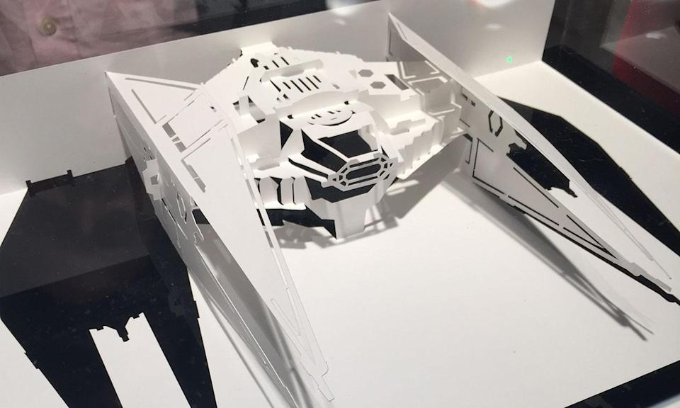 <p>Kylo Ren's ship from the new Star Wars Kirigami book (Yahoo Movies UK/Disney) </p>