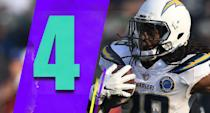 <p>The knock on Melvin Gordon before this season was that he wasn't very efficient. He has taken his yards per carry from 3.9 last season to 5.4 this season. Gordon also has 11 touchdowns in eight games. He has blossomed into a star. (Melvin Gordon) </p>