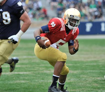 QB Everett Golson is back, but can he carry Notre Dame? (AP)